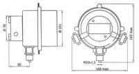 Рис. 2. Схема электрическая принципиальная манометра ДМ 8017Сг У2.
